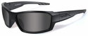 Wiley X WX Rebel Black Ops Safety Sunglasses with Matte Black Frame and Smoke Lens