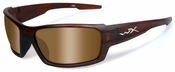 Wiley X WX Rebel Safety Sunglasses with Matte Layered Tortoise Frame and Polarized Bronze Lens