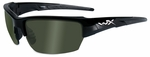 Wiley X WX Saint Safety Sunglasses with Black Frame and Polarized Smoke Green Lenses