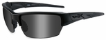 Wiley X WX Saint Safety Sunglasses with Matte Black Frame and Smoke Gray Lenses