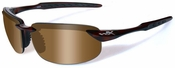 Wiley X WX Tobi Safety Sunglasses with Brown Crystal Frame and Bronze Lens
