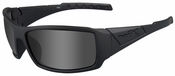 Wiley X WX Twisted Black Ops Safety Sunglasses with Matte Black Frame and Polarized Smoke Gray Lenses