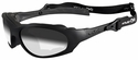 Wiley X XL-1 Advanced Ballistic Safety Sunglasses with Matte Black Frame and Light Adjusting Smoke Grey Lens