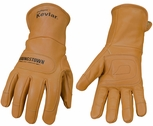 Youngstown Flame-Resistant Leather Utility Gloves with KEVLAR