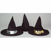 """SALE! 18"""" Black Witch Hat With Sequin Band"""