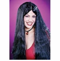 "24"" Black Witch Wig Halloween Costume Accessory Black Wig"