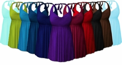 2pc Plus Size Swimsuit Swimdress 0x1x 2x 3x 4x Supersize 5x 6x 7x 8x Halter or Shoulder Strap! XL to 8x Many Colors!