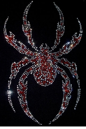 Awesome Black or Red Crystal Rhinestone Spider Plus Size T-Shirts S M L XL 2xl 3xl 4x 5x 6x 7x 8x