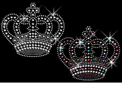Awesome Rhinestud Rhinestone Silver or multi-Color Sparkly Crown Plus Size & Supersize T-Shirts S M L XL 2x 3x 4x 5x 6x 7x 8x (All Colors)