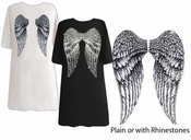 Back Angel Wings Plus Size & Supersize T-Shirts