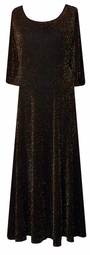 Beautiful Black & Gold  Glimmer Princess Cut Dress 1x to 7x