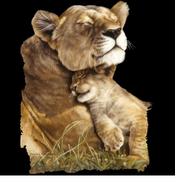 Beautiful Contentment Lion Lioness Cub Plus Size & Supersize T-Shirts S M L XL 2x 3x 4x 5x 6x 7x 8x (All Colors)