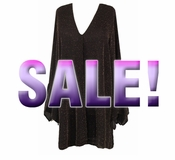 SOLD OUT! SALE! Black & Gold or Silver Shimmering Glimmer Dress Plus Size & Super Size! 4x 7x