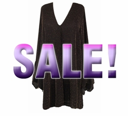 SALE! Black & Gold or Silver Shimmering Glimmer Dress Plus Size & Super Size! 7x