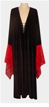 SALE!  Black & Red Gothic Lacey Lace-up Velvet Plus Size Dress or Shirt Supersize Halloween Costume