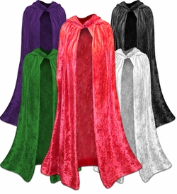 SALE! Plus Size Halloween Capes! Red, Black, Dark Purple, Green, or White Plus Size & Supersize Halloween Costume Cape 1x to 8x