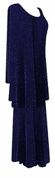 Captivating Blue Glimmer Plus Size & Supersize 2pc Top & Skirt Set  1x 2x 3x 4x 5x 6x 7x 8x 9x