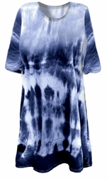 CLEARANCE! Blue Seas Tie Dye Plus Size T-Shirt 3xl