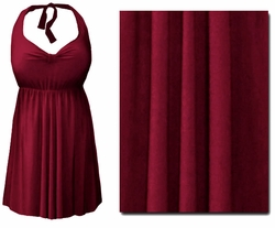 CLEARANCE! Burgundy 2PC Halter Style Swimsuit/Swimdress Plus Size & Supersize 1x