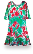 SOLD OUT! CLEARANCE! Christmas Heaven Tie Dye Plus Size T-Shirt 4XL