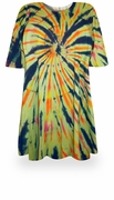 CLEARANCE! ! Fireworks Glory Tie Dye Plus Size & Supersize X-Long T-Shirt  8x