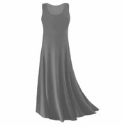 CLEARANCE! Gray Slinky Plus Size & Supersize Tank Dress 1x