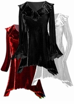 CLEARANCE! HOT! Sexy Crushed Velvet Babydoll Ruffle Plus Size & Supersize Top 1x 2x 3x 5x 6x 9x