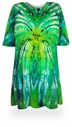CLEARANCE! Itsy Bitsy Spider Green/Yellow Tie Dye Plus Size & Supersize X-Long T-Shirt 6x