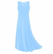 CLEARANCE! Light Blue Slinky Plus Size & Supersize Tank Dress 0x 3x