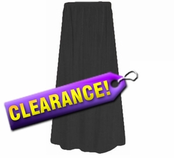 CLEARANCE! Lovely Plain Solid Black or Navy Poly/Cotton Elastic Waist Plus Size Skirt 1x 2x 3x 4x 5x 6x 7x 8x 9x Extra Long