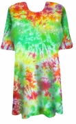 CLEARANCE! Marble Tie Dye Sparkly Kittens Rhinestuds Plus Size T-Shirt 5xl