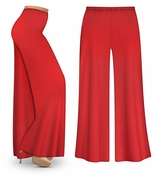 CLEARANCE! Red Wide Leg Palazzo Pants in Slinky, Velvet or Cotton Fabric - Plus Size & Supersize 2x 3x 6x