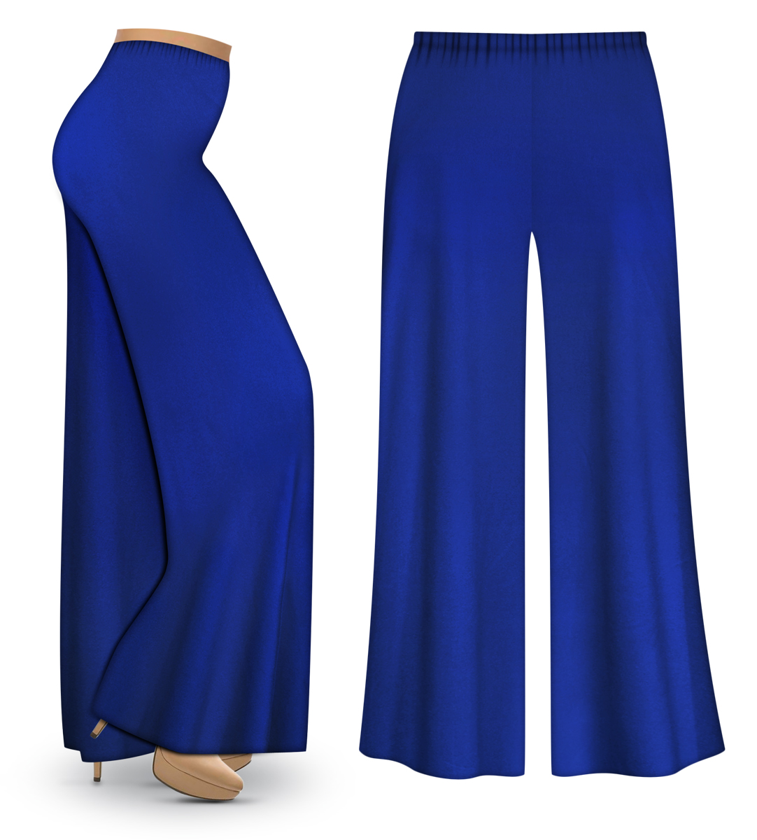 SOLD OUT! CLEARANCE! Royal Blue Wide Leg Palazzo Pants in Slinky ...