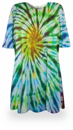 FINAL SALE! Spring Meadows Tie Dye Plus Size & Supersize X-Long T-Shirt