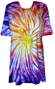 CLEARANCE! Sunset Swirl Tie Dye Plus Size & Supersize X-Long T-Shirt 4x