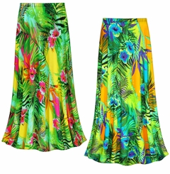 CLEARANCE! Tropical Gardens Slinky Print Plus Size Supersize Skirt 2x
