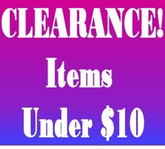 "CLEARANCE! - Under $10 <br><font size=""1"" color=""red""> (Last updatedc 12/2/10)</font>"