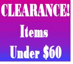 "CLEARANCE! - Under $60 <br><font size=""1"" color=""red""> (Last updated 11/09/10)</font>"