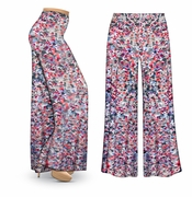 CLEARANCE! Watercolor Fantasy Slinky Print Plus Size & Supersize Palazzo Pants 2x