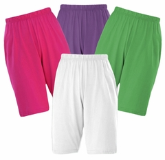 SALE!  CLEARANCE! Poly/Cotton Knit Elastic Waist Shorts Plus Size Supersize 0x 1x 2x 3x 4x 5x 6x 7x 8x