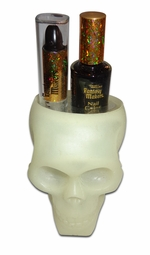 Closeout! Glow in the Dark Skull with Black Lipstick and Nail Polish