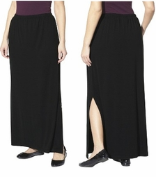 SALE! Black, Navy, or Dark Gray Plus Size Maxi Skirt With Slit Plus Size 3x 4x