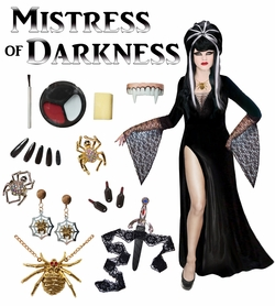 SALE! Mistress of Darkness Plus Size Supersize Costume / Accessory Kit! Lg XL 1x 2x 3x 4x 5x 6x 7x 8x 9x