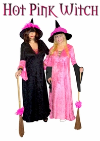 NEW! Hot Pink Witch + Add Accessories Plus Size Supersize Halloween Costume Kit Large to 9x