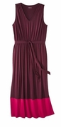 SALE! Two Color Burgundy & Pink Plus Size Sleeveless Color Block Maxi Dress 3x 4x