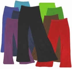 COTTON/POLY Jersey Knit Stretchy Wide Leg Palazzo Pants with Elastic Waist Plus Size & Supersize XL 1x 2x 3x 4x 5x 6x 7x 8x