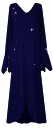 Customizable Dazzling Blue Glimmer Plus Size & Supersize Dress 1x to 9x