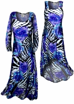 Customizable! New! Sparkly Sequin Lightweight Black Purple Blue Animal Print Slinky Plus Size & Supersize Straight Hem or Cascading A-Line or Princess Cut Dresses & Shirts, Jackets, Pants, Palazzo's or Skirts Lg XL 0x 1x 2x 3x 4x 5x 6x 7x 8x 9x