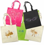 SALE! Embellished Cotton Beach Tote