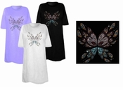 FINAL SALE! Abstract Butterfly Wings Rhinestuds Plus Size & Supersize T-Shirts 3x